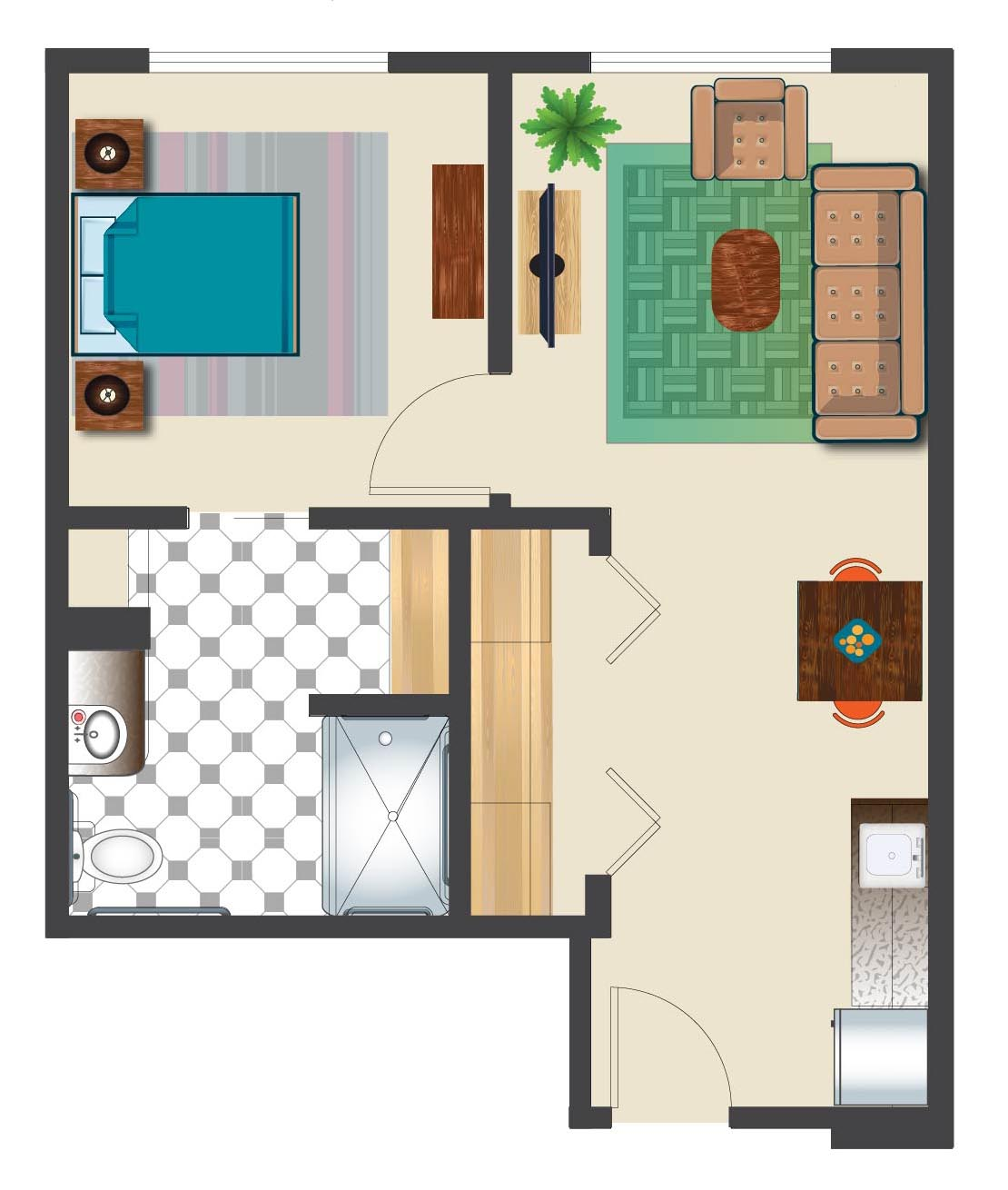 Vacation Village At Parkway Floor Plan Image Collections