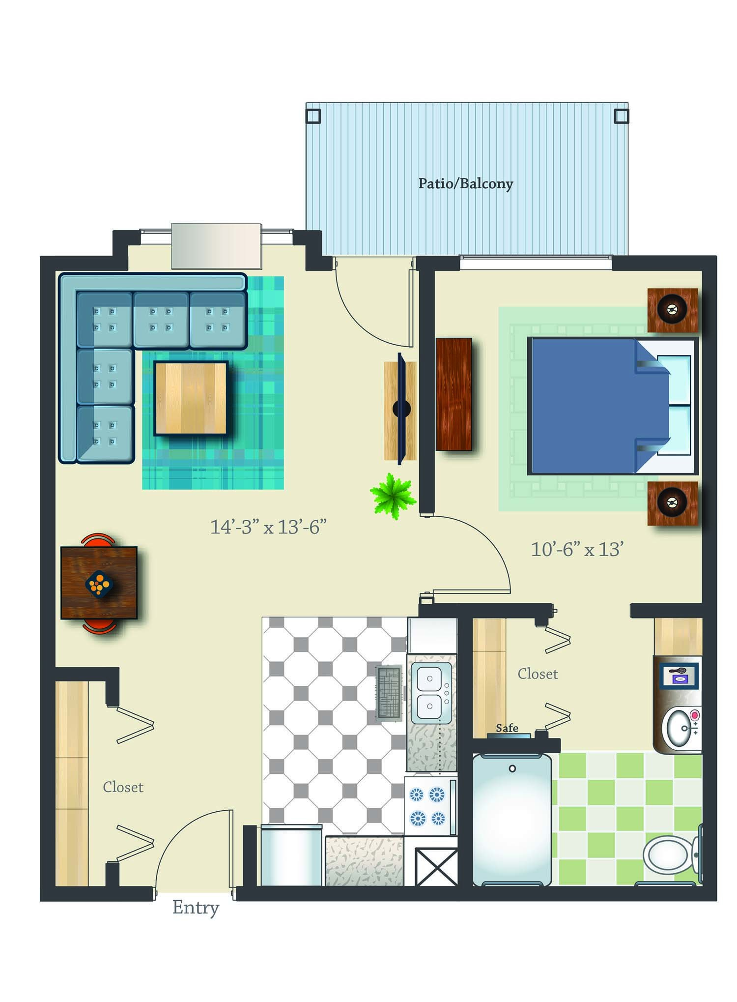 retirement community memory care in m oregon one bed one bath 652 sq ft retirement suite