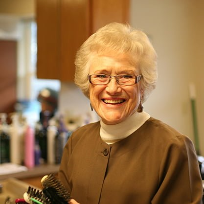 hairdresser senior living communities