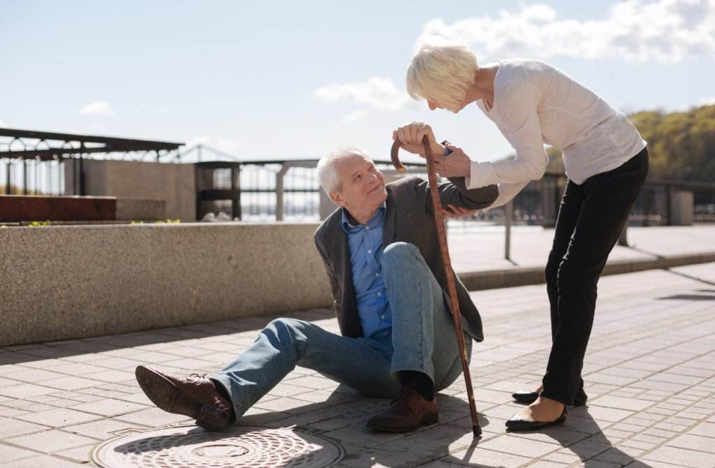 senior fall falls falling independent living assisted retirement perfected memory care prevent prevention