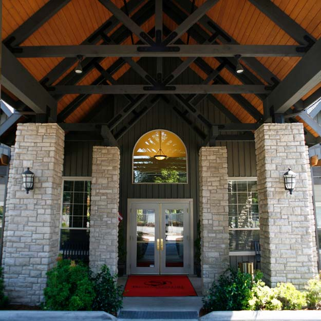 Senior Living entrance Oswego Place