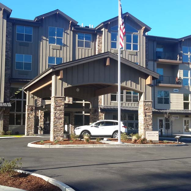 Retirement Home exterior at Salmon Creek
