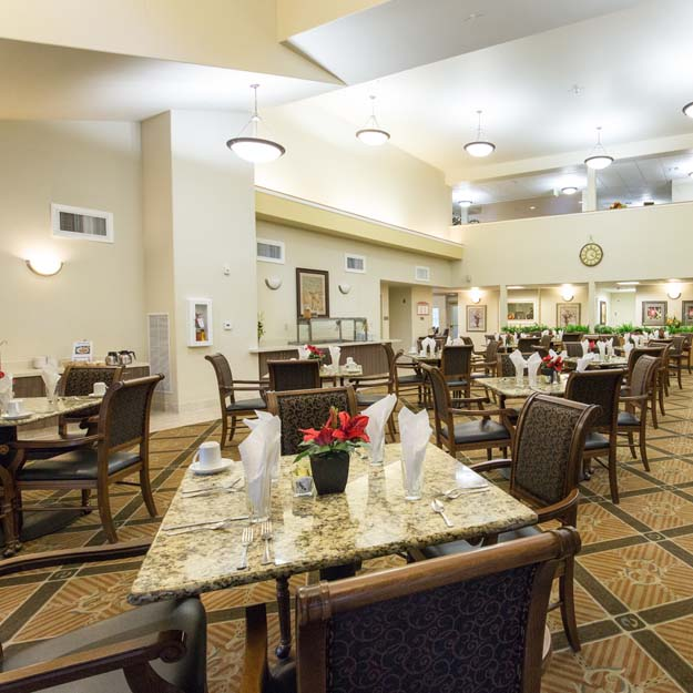 Senior Living dining Park Vista