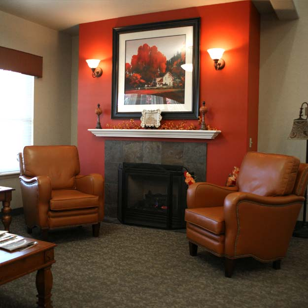 Fireside relaxation for senior living