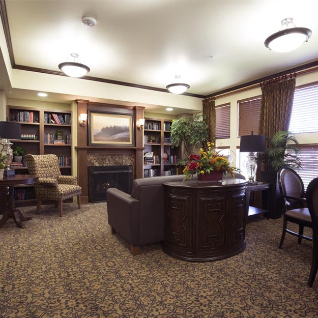 Reading library for residents