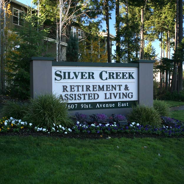 Retirement Home sign for Silver Creek