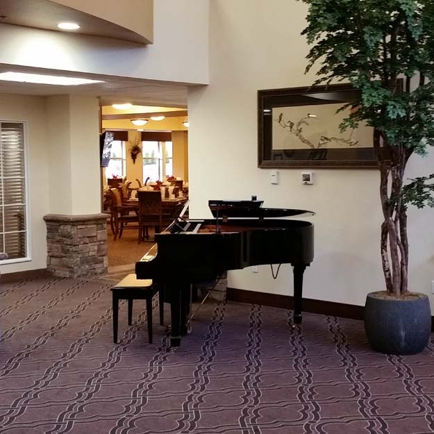 Piano in Lobby at Salmon Creek.
