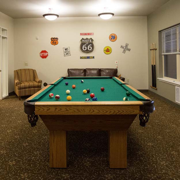 Independent Living pool table Park Vista