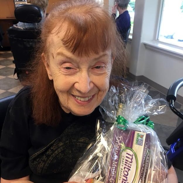Senior wins raffle prize