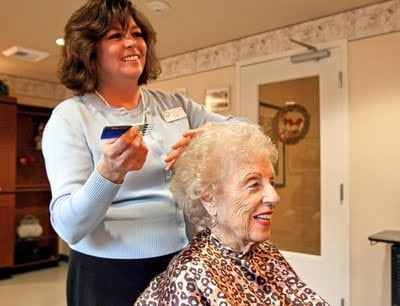 Hair styling in retirement