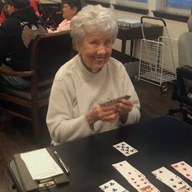 Senior Living card game at Bonaventure of Colorado Springs