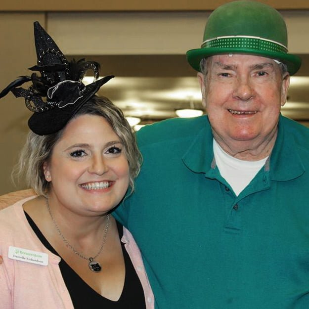 Senior living satff and resident Halloween fun at Bonaventure of Tigard