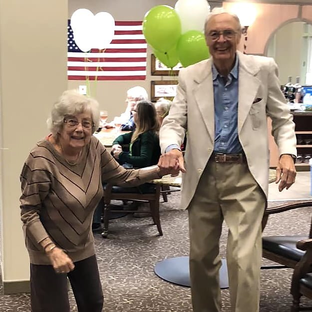 Assisted Living residents dancing - Cedar Ridge