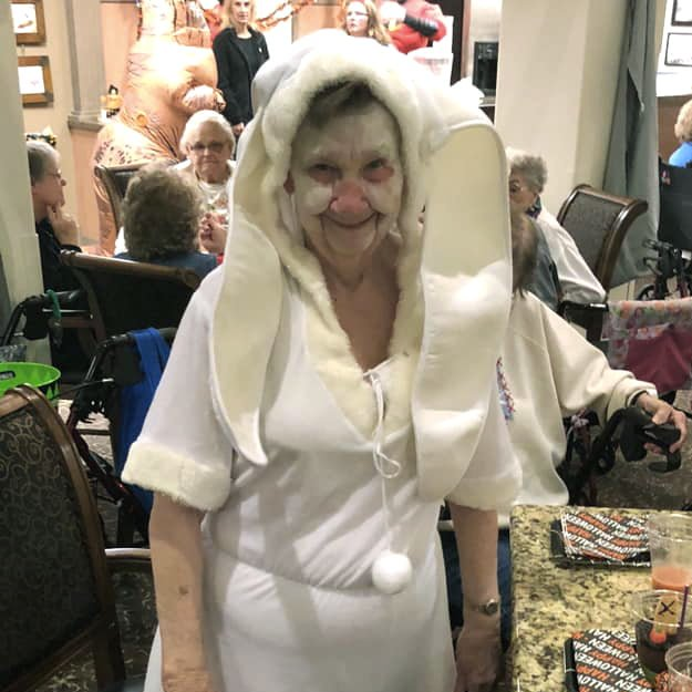 Assisted Living residents fancy dress party - Cedar Ridge