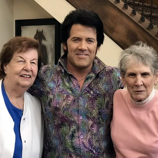 Happy seniors with elvis enjoying retirement in gresham oregon