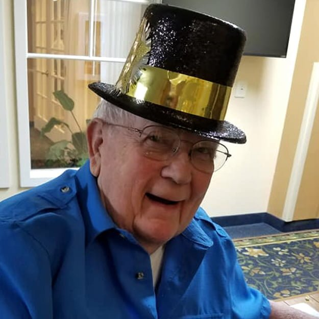 Lacey Washington retirement living community senior man enjoying retirement