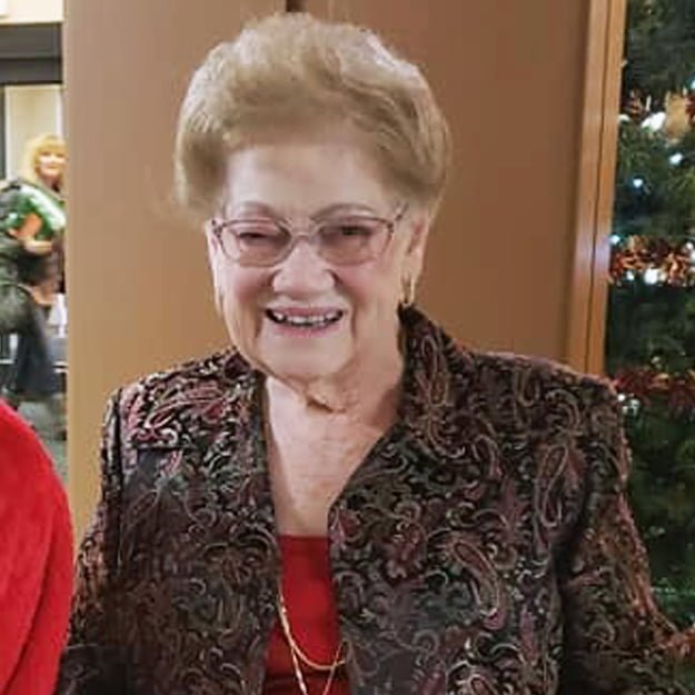 Retired senior woman smiles at Bonaventure of Lacey Independent Living community