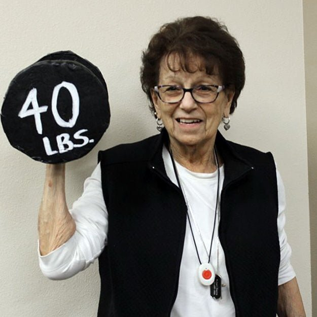 Assisted living senior likes fitness and seniors that are in their retirement communities