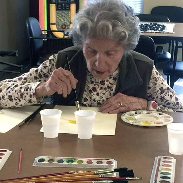 Retirement assisted living and memory care senior paints