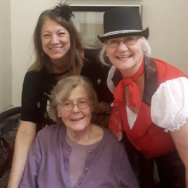 Senior women love retirement living and memory care