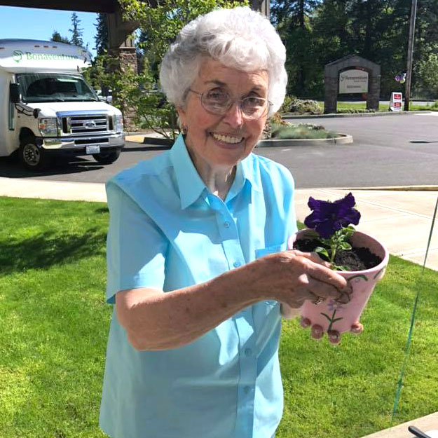 Gardening in memory care is fun with retirement living community