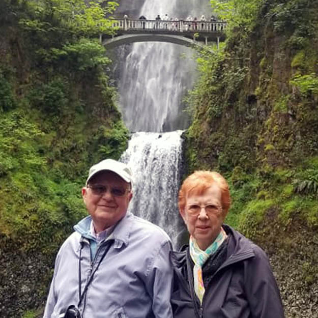 Memory care retirement waterfall seniors enjoy assisted living