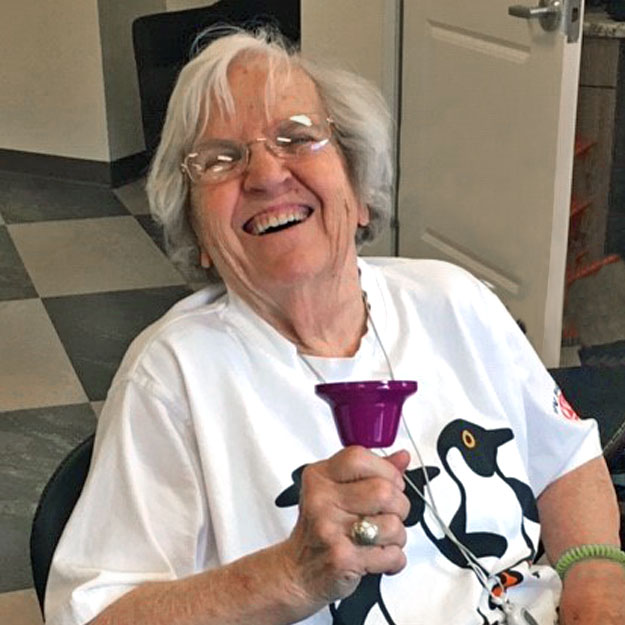 Senior fitness is good in assisted living community