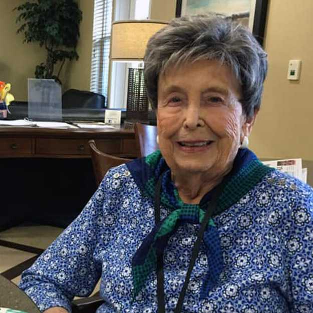 Senior woman enjoys retirement and senior living