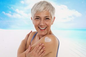 senior woman skin care is important