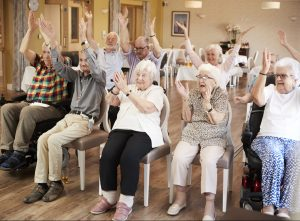 Dementia Fitness seniors retirement in assisted living community