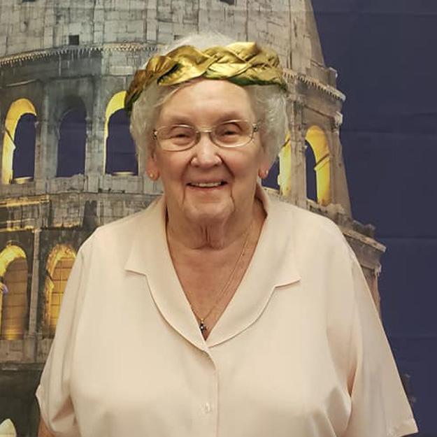 Laughing senior women in her own independent living community