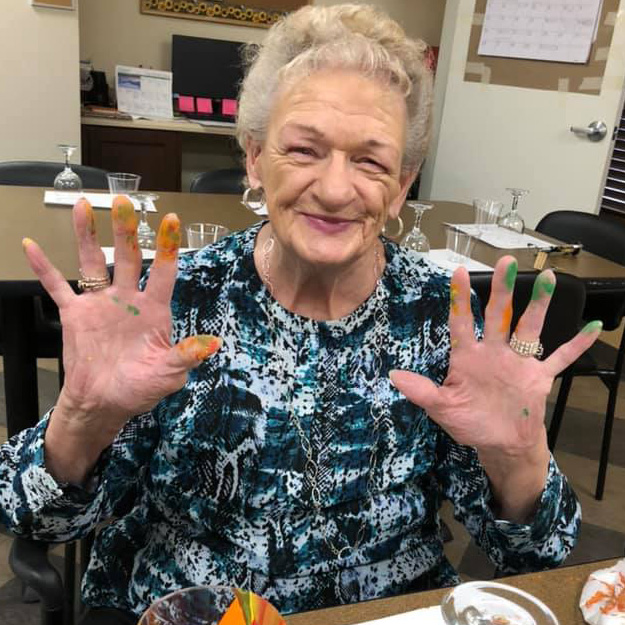 Senior woman in assisted living
